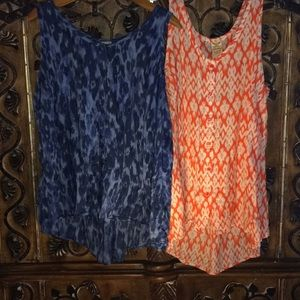 Bundle of 2 Faded Glory button down tank tops